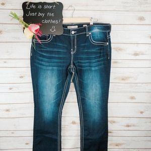 BKE Culture Jeans Size 36L Bootcut Dark Wash
